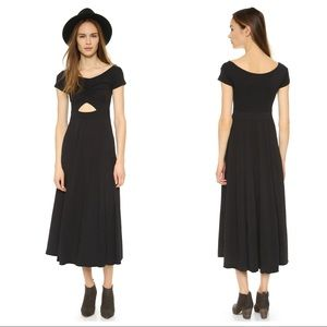 NWOT Free People Dance With Me Black Midi Dress
